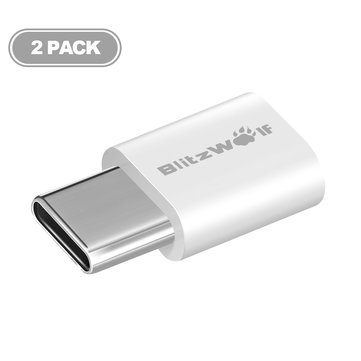 BlitzWolf® BW-A2 USB Type-C to Micro USB Connector USB C Adapter 2PCS