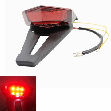 Motorcycle Scooter Small Golden Boy Monkey LED Rear Licence Fender Tail Light Spoiler