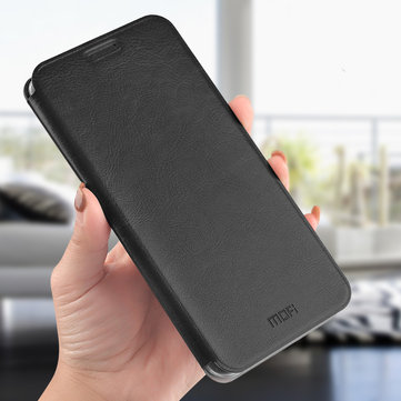 Mofi Shockproof Flip PU Leather Soft TPU Full Cover Protective Case for Xiaomi Pocophone F1