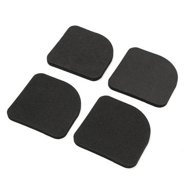 4Pcs Black Square Washing Machine Anti Vibration Pad Refrigerator Mute Mat Pads