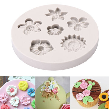 flower silicone fondant mold cake mould decorating baking mold