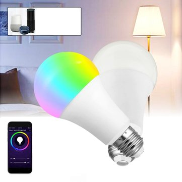 E27 9W RGBW WIFI APP Control LED Globe Smart Light Bulb for Echo Alexa Google Home AC85-265V