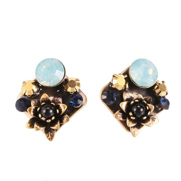 JASSY® Vintage Stereoscopic Flower Stud Earrings Antique