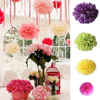 6'' 8'' 10'' 15''Large Medium Small Handmade Tissue Paper Poms Wedding Birthday Party Decoration