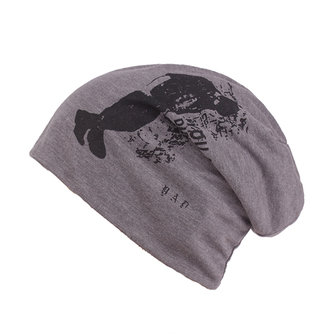 Mens Unisex Cotton Printed Beanies Hats Outdoor Autumn Warm Skullies Hat