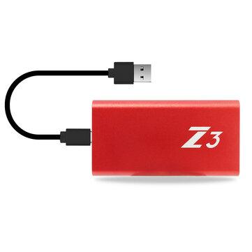 Kingspec Z3 Type C Disque dur SSD externe SSD USB 3.1 Disque dur 64/128 / 256GB Portable
