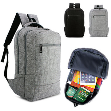 IPRee® 15.6inch Men Laptop Canvas Backpack School Business Travel Shoulder Bag Rucksack