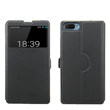 Smart Window PU leather Flip Protective Case For DOOGEE MIX