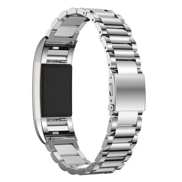 Bakeey Stainless Steel Three Beads Watch Band Strap for Fitbit Charge3 Smart Watch