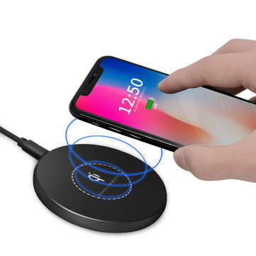 Buy Bakeey KD02 10W QI Wireless Fast Charging Pad Smart Charger Adapter For iphone X 8/8Plus Samsung S8 for $26.99 in Banggood store