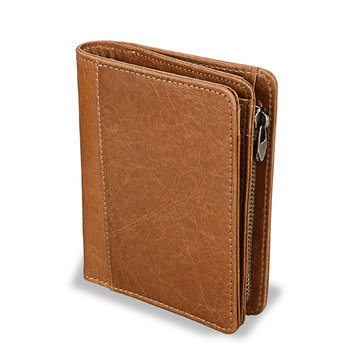 RFID Blocking Mens Bifold Wallet Genuine Leather Vintage Slim Card Holder Money Bag