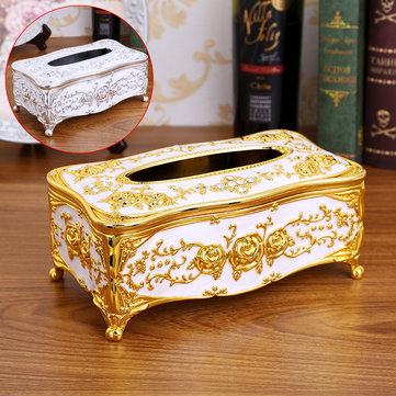Tissue Box Acrylic Holder Car Room Home Hotel Vintage Retro Floral Luxry 2 Color