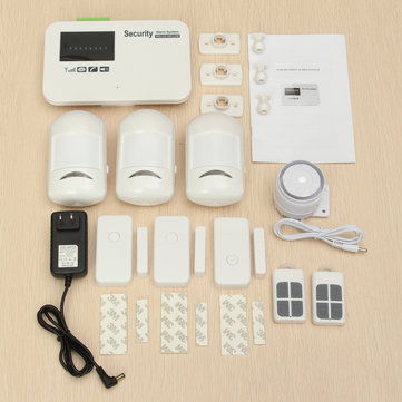 433MHz Wireless GSM Security Burglar Alarm System App Control for Home Factory Office