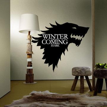 T-5 Game Of Thrones สติกเกอร์ครอบครัวสตาร์วอล์คเกอร์หมาป่าติดผนังสติ๊กเกอร์ติดผนัง