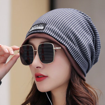 Men Women Cotton Double Layers Beanie Caps