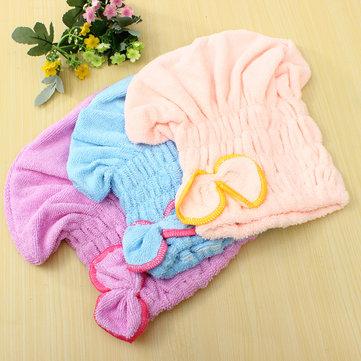 Magic Quick Dry Bath Hair Drying Towel Turban Head Wrap Hat Makeup Cosmetics Cap