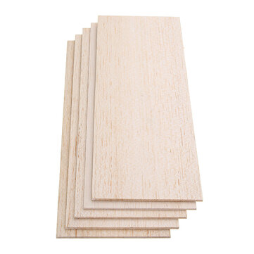 310x100mm 5Pcs Balsa Wood Sheet Light Wooden Plate for DIY Airplane Boat House Ship Model