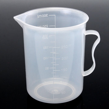 250ml Plastic Measuring Cup Clear Double Graduated Cylindrical Measuring Jug