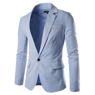Mode Hommes Casual One Button Pocket couleur unie Slim Fit Suit Printemps automne Coat 8 couleurs