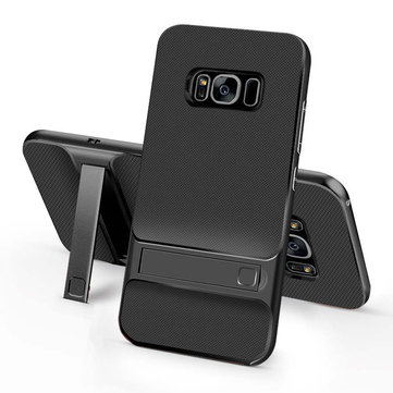 TPU+PC Silicon Hybrid Stand Holder 3D Kickstand Back Cover Armor Case for Samsung Galaxy S8