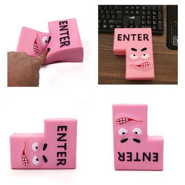 Enter Key Squishy 15*11.5CM Soft Slow Rising With Packaging Collection Gift Toy