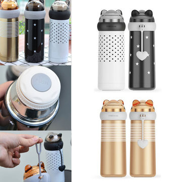 350ml Cartoon Stainless Steel Thermos Travel Outdoor Coffee Tea Vacuum Flasks Portable Water Bottle
