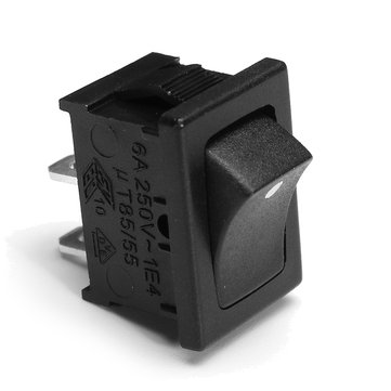 250V 6A 2Pin Mini Rocker Switch With Dot Mini Power Switch ON-OFF