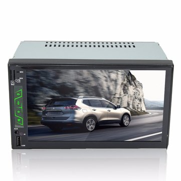 F6506 7 inch Car Stereo MP5 MP3 FM Player Bluetooth Touch Screen TF USB AUX 2 DIN In Dash