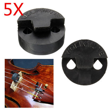 5pcs goma agujero doble puente ronda de práctica del violín de silencio para violín violín