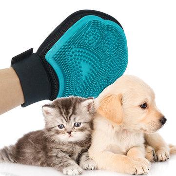 การตัดขนสัตว์เลี้ยง ถุงมือ การนวดเส้นผมการขจัดขนขนสัตว์ เครื่องมือ for สุนัข & Cat