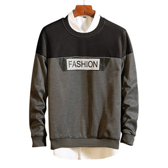 Men's Fashion Breathable Fit Patchwork Casual Sweatshirt