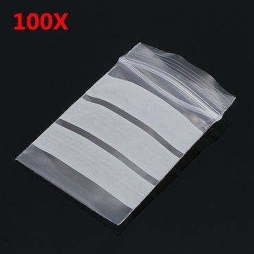 100pcs ถุง Ziplock 4x6cm Reclosable พร้อมแผ่นเขียน PE เทปปิดผนึกตัวซีล กระเป๋า