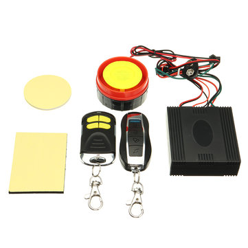 12V 125dB Motorcycle Anti Theft Security Alarm Shock Sensor System Remote Control Engine Start