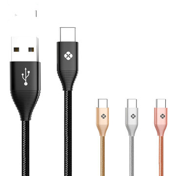 TOTU 1M Zinc Alloy 2.4A USB Type-C Fast Charging Cable for Samsung S8 Xiaomi Mi5S Nexus 5X 6P