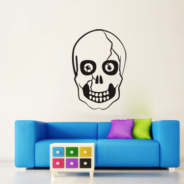 KST-6 Halloween PVC Wall Stickers Skull Living Room Bedroom Decoration Wall Stickers