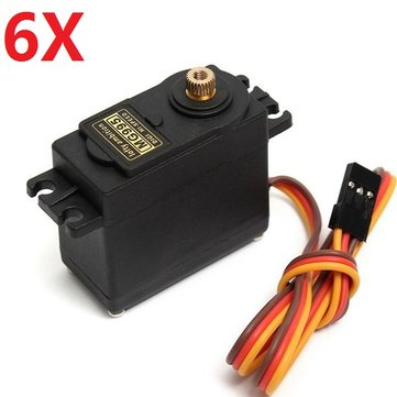 6X MG995 High Torque Metal Gear Analog Servo
