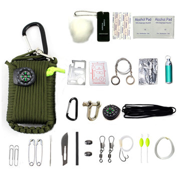 IPRee® 24 In 1 EDC Multi Tools Kit Outdoor Tactical Camping Survival Emergency Bag