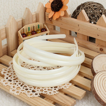 12Pcs White Plain Fashion Ladies Hair Band Headbrand Hair Accessories