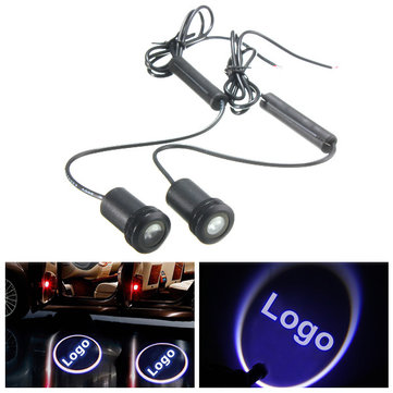 2pcs LED Welcome Light Laser Projector Car Door Ghost Shadow Lamp for Jeep
