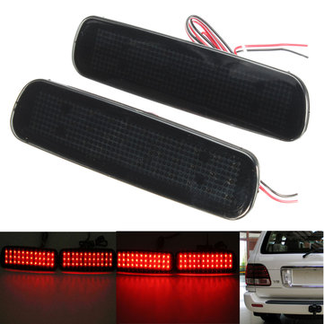 Pair Rear Bumper LED Brake Tail Light Reflector Fog Light For Toyota Land Cruiser Lexus LX470