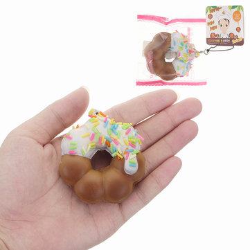 엘사 Squishy 도넛 무작위 컬러 6cm 소프트 천천히 상승 포장 태그 컬렉션 선물 장식 장난감