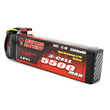 LEOPARD Power 11.1V 5500mAh 40C 3S TRX Plug Lipo Battery for TRAXXAS TR-4 E-REVO Axial Yeti XL Car