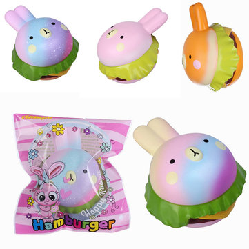 Vlampo Squishy Rabbit Hamburger Bunny Slow Rising Original Packaging Burger Collection Gift Decor