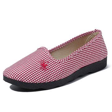 Casual cómodos y transpirables Slip On Flats Mujer Zapatos