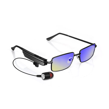 KCASA Smart Anti-blue Anti-radiation Bluetooth Glasses USB Earphone Spectacles for Phone Call Music