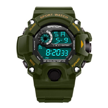 SANDA 326 Fashion Men Digital Watch Multifunction Waterproof Outdoor Sports Watch