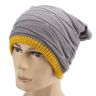 Neutral hombres mujeres sombreros cálidos de lana de punto extensible doble calle tapas