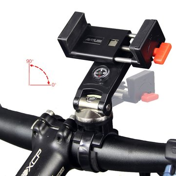 ANTUSI T8 Quick Attach Detach Bike Phone Holder with Compass 90° Rotatable 304 Stainless Steel Compatible with 3.0-6.3in Universal Cradle for iOS iPhone7/6s Plus/Samsung S7/S6