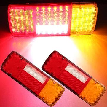 2x 12V 92 LED Karavan Van Treyler Kamyon Arka Kuyruk Fren Göstergesi Geri Vites Lambaları