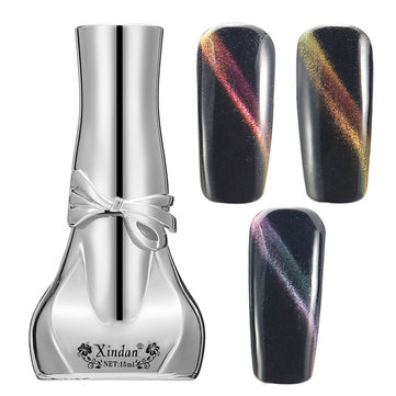 Magic Dual Color Gradient Cat's Eyes Effect UV Gel Polish Nail Art Magnet Magnetic Shiny Manicure
